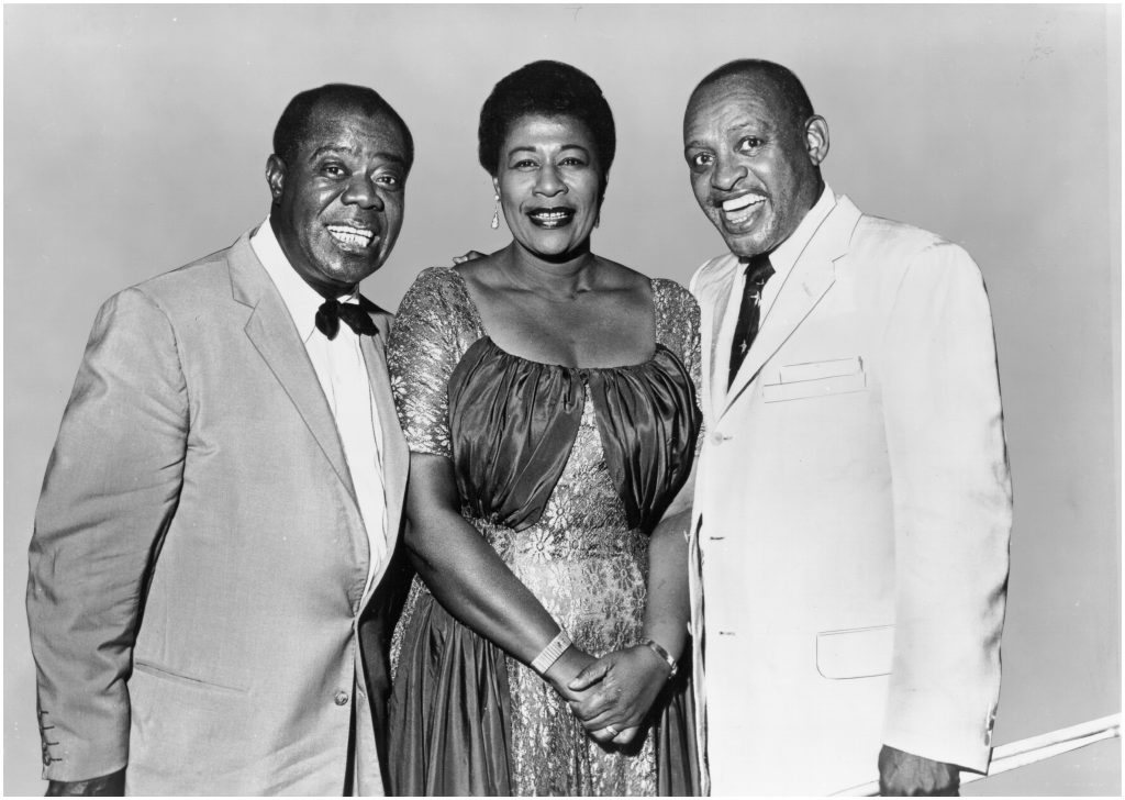 Louis Armstrong, Ella Fitzgerald e Lionel Hampton