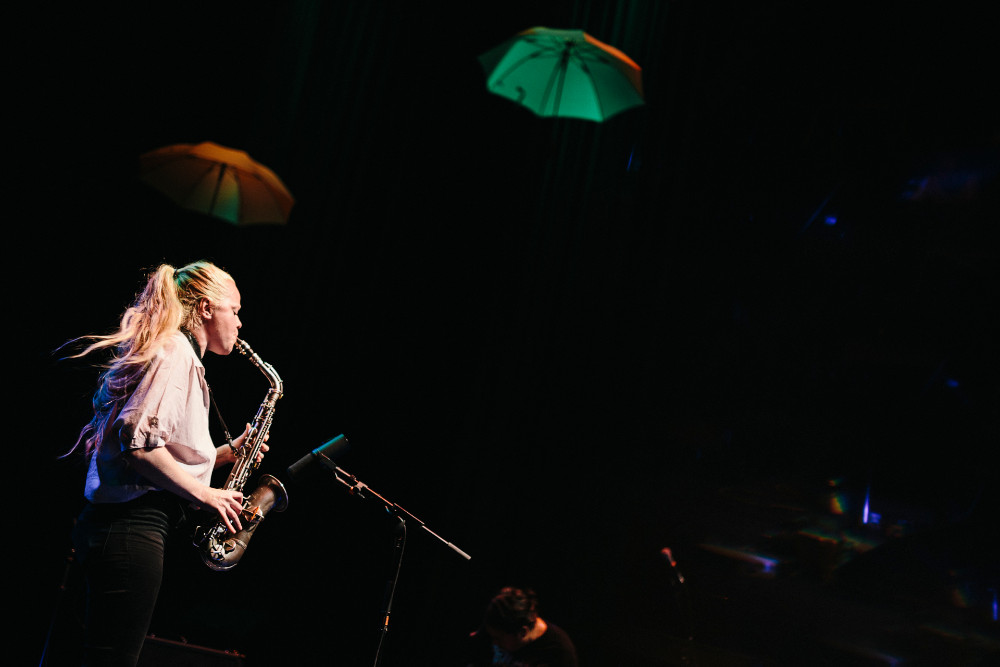 Mette Rasmussen und Tashi Dorji (foto di Matthias Heschl) - 40. International Jazzfestival Saalfelden