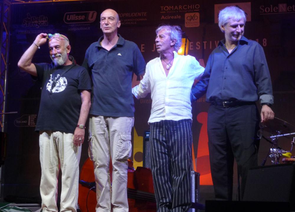 Antonio Marangolo, Aldo Mella, Agostino Marangolo e Luca Begonia (foto di Alberto Bazzurro)