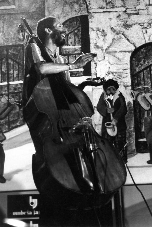 Ron Carter a Umbria Jazz nel 1983 - foto Paola Bensi