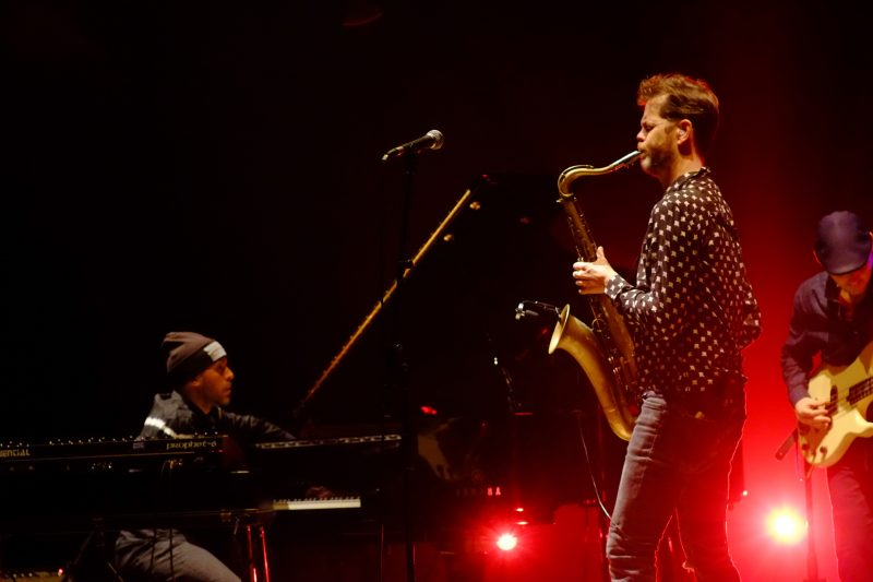 Jonathan Maron al basso elettrico e Donny McCaslin al sax, JazzMi 2017