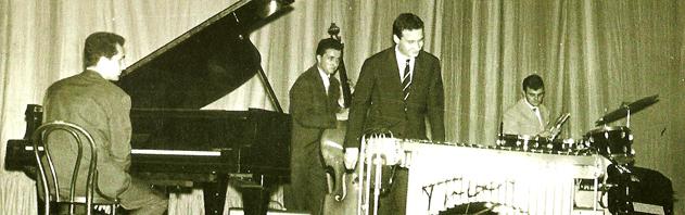 Freddy Mancini, Gino Basso, Paolo Conte (vibrafono), Piero Gasparini negli anni sessanta