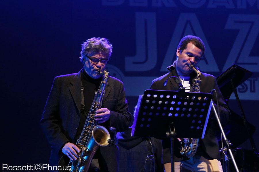 Tino Tracanna e Greg Ward - teatro Creberg - Bergamo Jazz 2018