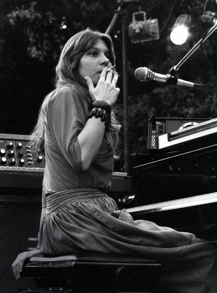 Eliane Elias a Umbria Jazz ne 1984, quando era pianista degli Steps Ahead (foto di Fabrizio Biamonte)