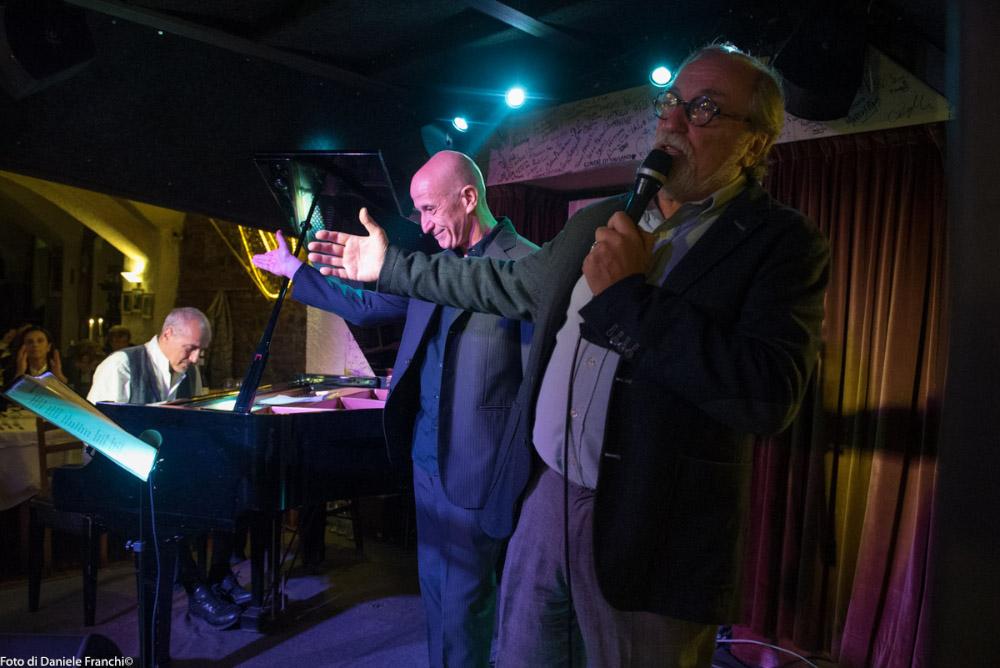 La festa alla Cantina Bentivoglio, con Danilo Rea e Peppe Servillo (foto di Daniele Franchi)