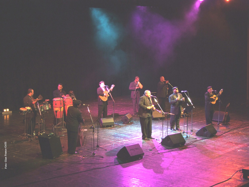 Grupo Compay Segundo - Teatro EuropaAuditorium (BO) 2009 (foto di Gian Franco Grilli)