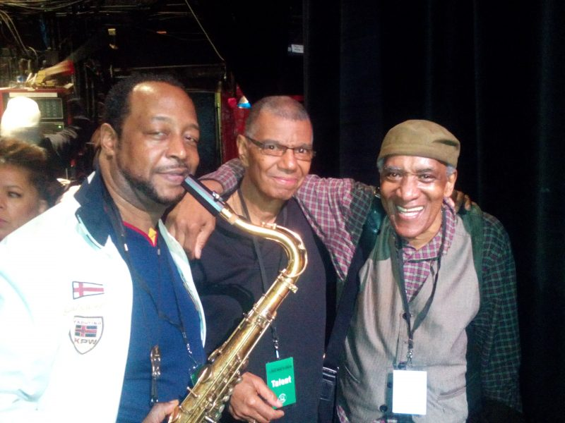 Eric Wyatt con jack DeJohnette e Al Foster
