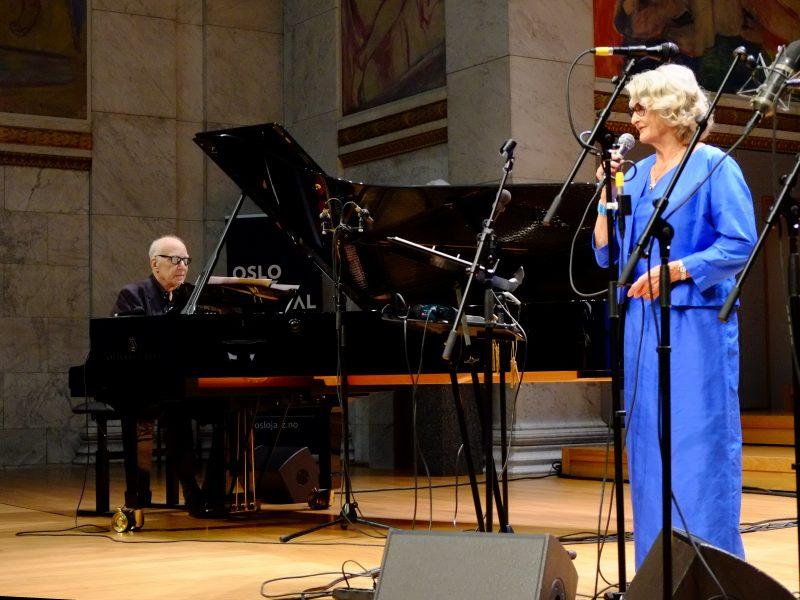 Karin Krog e Steve Kuhn, Oslo Jazz Festival 2017 - foto Francesco Spezia