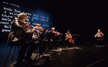 Il Kronos String Quartet e Laurie Anderson (28 giugno 2013 - foto di Mark Allan)
