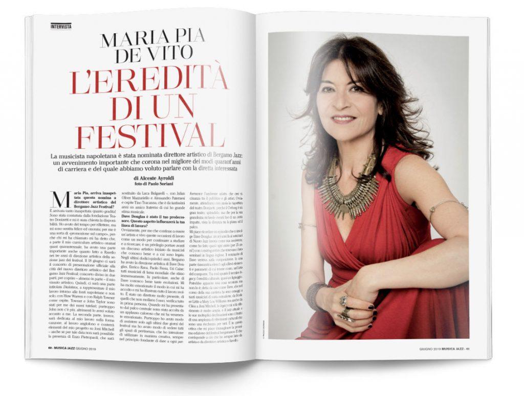 Maria Pia De Vito - In edicola Musica Jazz di giugno 2019