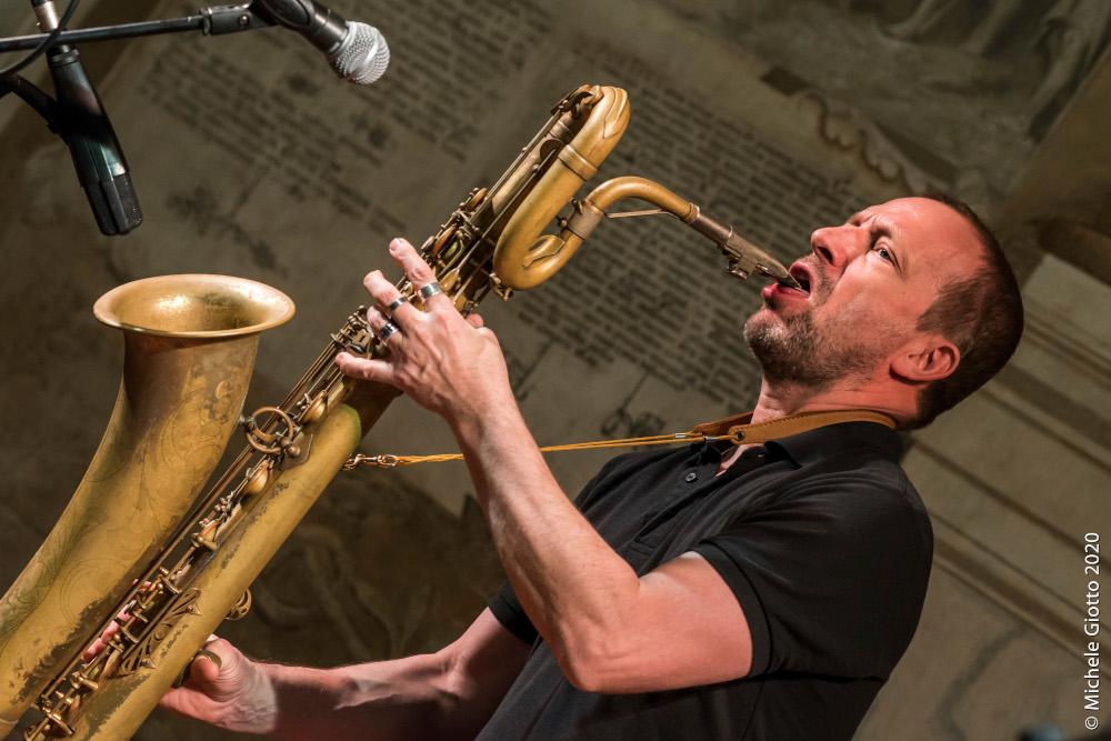 Mats Gustafsson (foto di Michele Giotto)