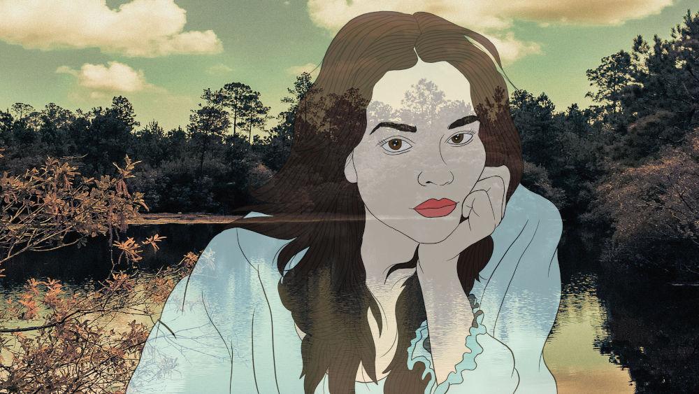 Il ritratto di Norah Jones presente nel disco dei Mercury Rev