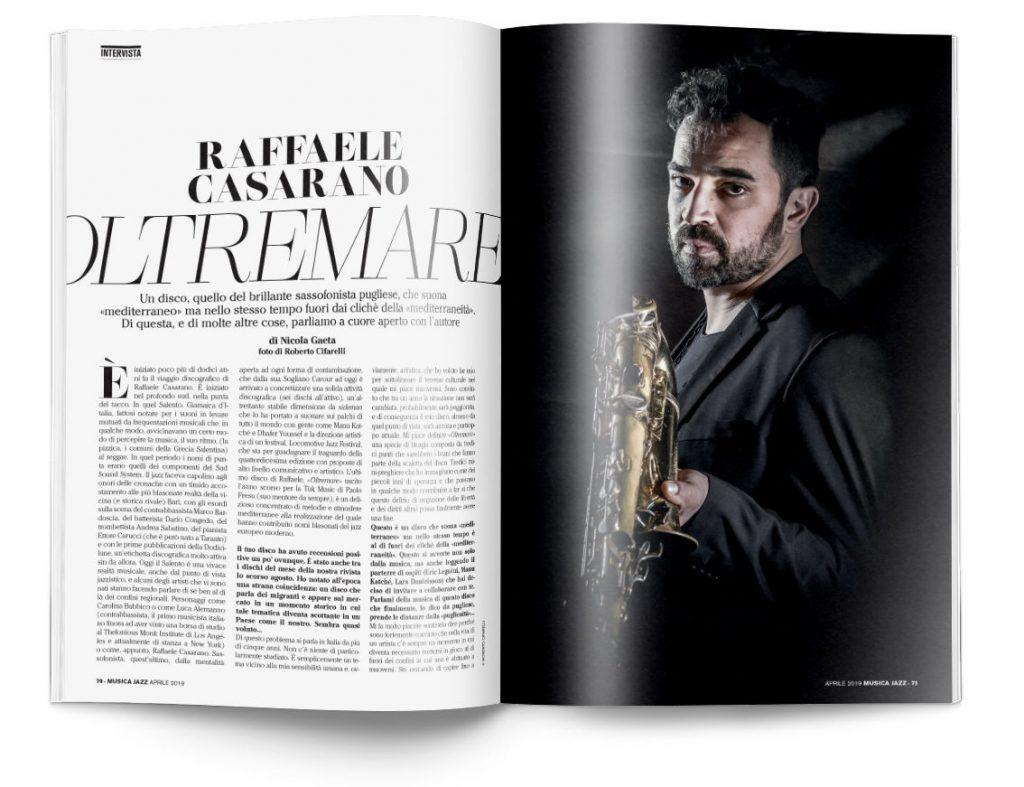 Raffaele Casarano - Musica Jazz aprile 2019