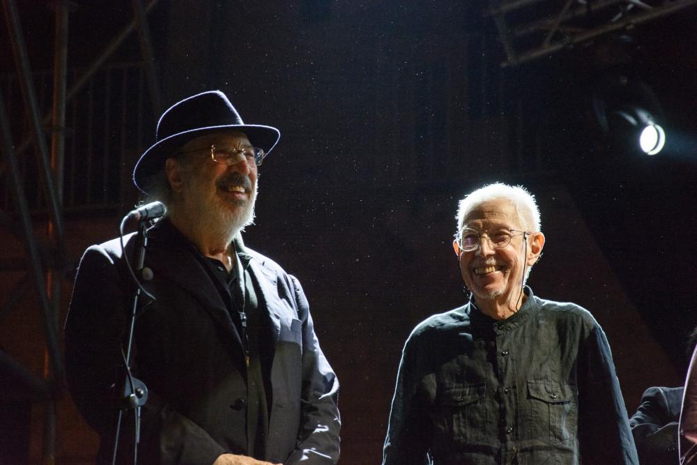 Trovesi e Tommaso (foto di Cinzia Cantatore)