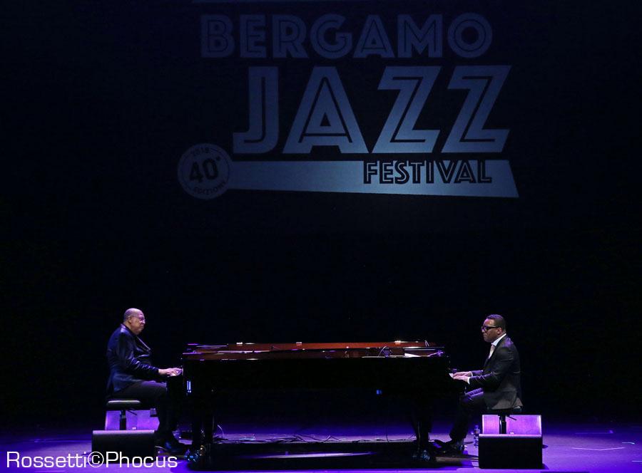 Il duo Chuco Valdes/Gonzalo Rubalcaba, Creberg, Bergamo Jazz 2018