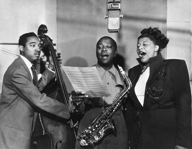 Ray Brown, Louis Jordan, Ella Fitzgerald--1949