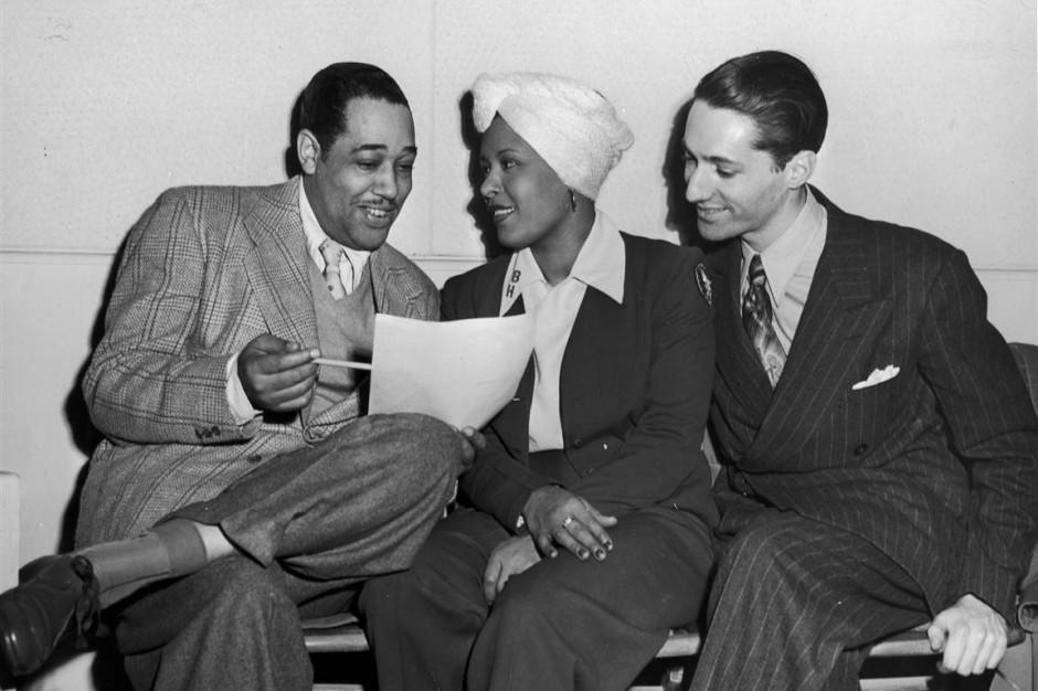 Duke Ellington, Billie Holiday, and Leonard Feather