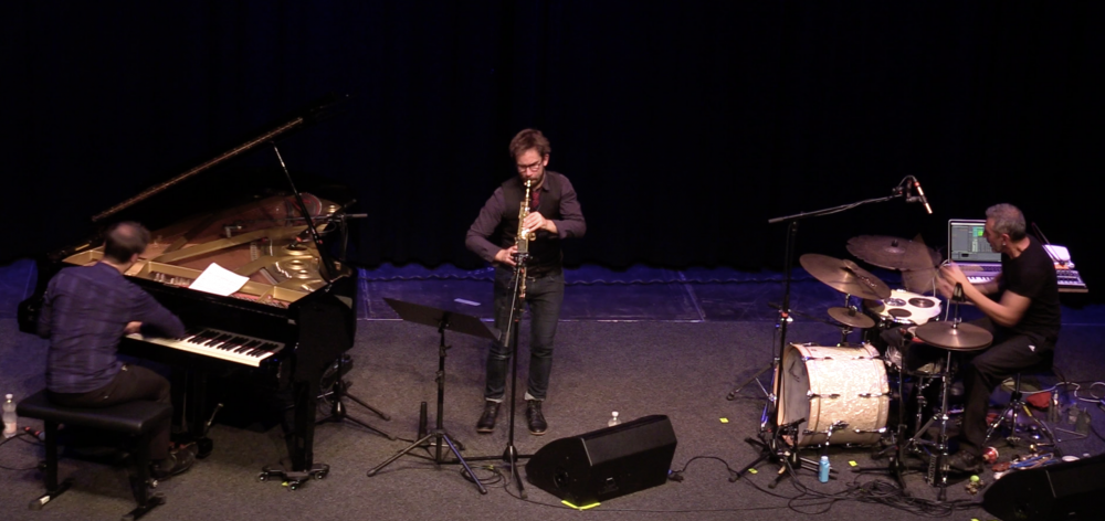 Roberto Negro, Émile Parisien e Michele Rabbia, Jazzfestival Saalfelden 2017 - foto Paolo Burato